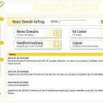 Domain-Robot: Startseite